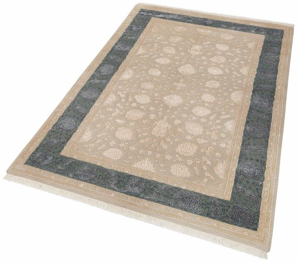 Orient-Teppich, Parwis, »Moglu Elegance«, 4kg/m², 150 000 Knoten/m², handgeknüpft, Unikat in blau