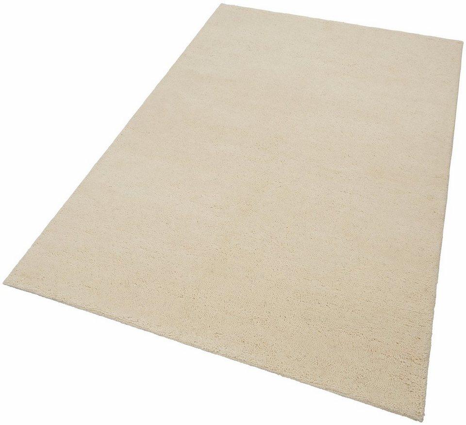 Orient-Teppich, Parwis, »Berber Simpel«, 4,5 kg/m², 22 500 Knoten/m², 100% Schurwolle, Unikat in creme
