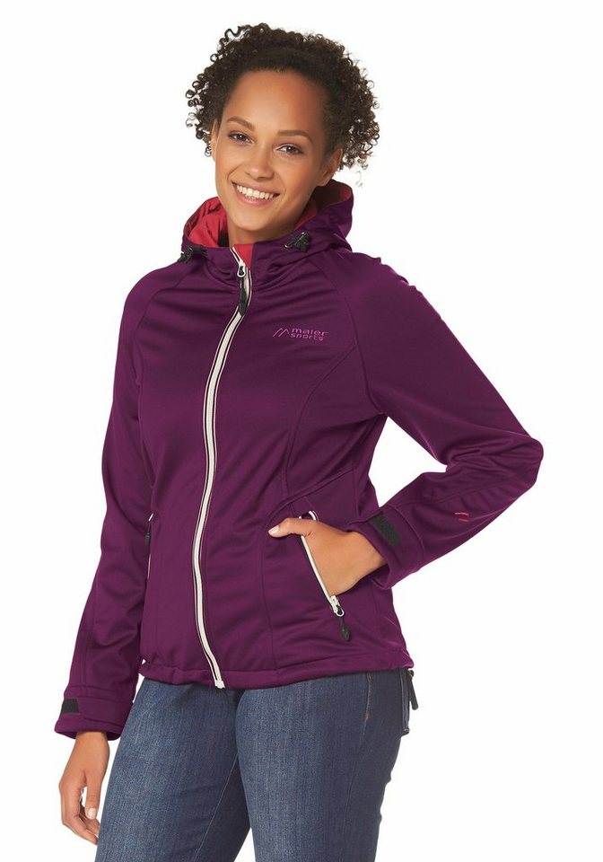 Maier Sports Softshelljacke in Beere