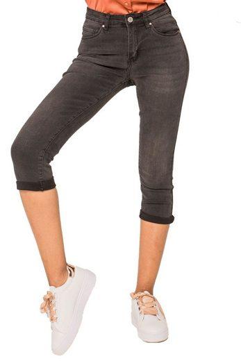 Nina Carter Caprihose »3204« Damen Capri Jeans 3/4 Shorts Kurze 5 Pocket Hose