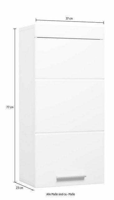 Badschränke - trendteam Hängeschrank »Amanda« Breite 37 cm, Badezimmerschrank mit wechselbarem Türanschlag, MDF Front in Hochglanz oder Holzoptik  - Onlineshop OTTO