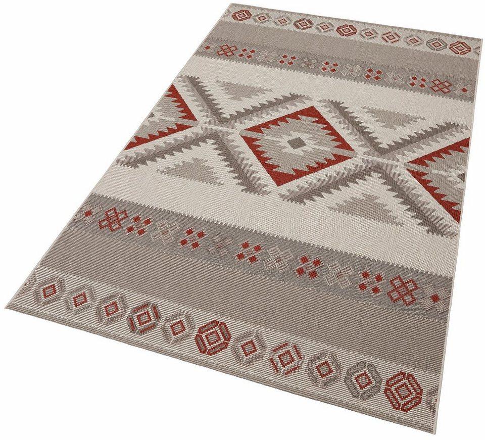 Design-Teppich Flachgewebe »Kelim«, Hanse Home, gemustert, gewebt, modern in grau