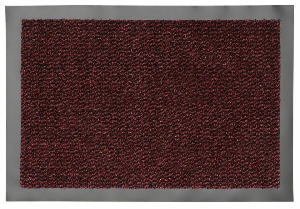 Fußmatte »Faro Line«, Hanse Home, rechteckig, Höhe 10 mm in rot