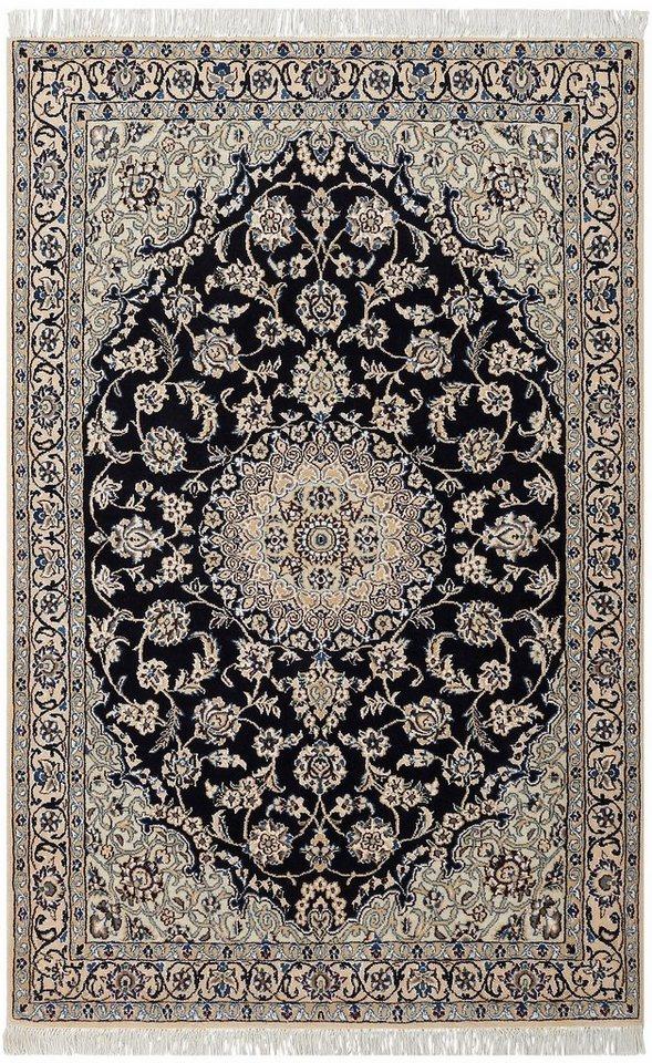 Orient-Teppich, Parwis, »Nain Scherkat Royal 2«, 450 000 Knoten/m², handgeknüpft, Unikat