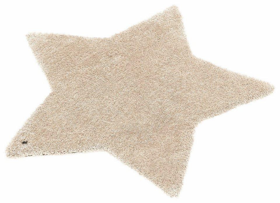 Kinder-Teppich, Tom Tailor, »Soft Stern«, Hochflor, Höhe 30 mm, handgetuftet in beige