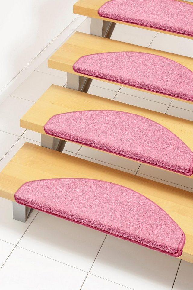 Stufenmatte, Hanse Home, »Shashi«, einfarbig, Kurzflor, getuftet in Rosa Pink