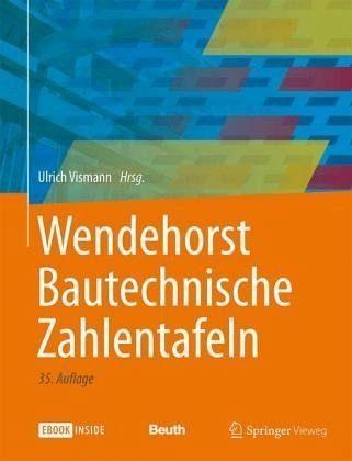 Broschiertes Buch »Wendehorst Bautechnische Zahlentafeln«