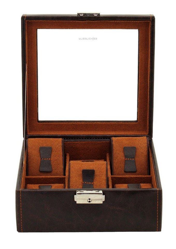 Friedrich23 Uhrenkasten »Bond«, mit Glasdeckel | Uhren > Uhrenboxen | Braun | Friedrich23