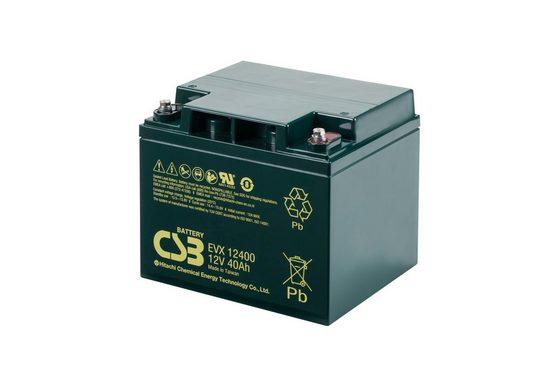CSB »CSB-EVX12400 12 Volt AGM Bleiakku 40Ah, 197x165x17« Bleiakkus