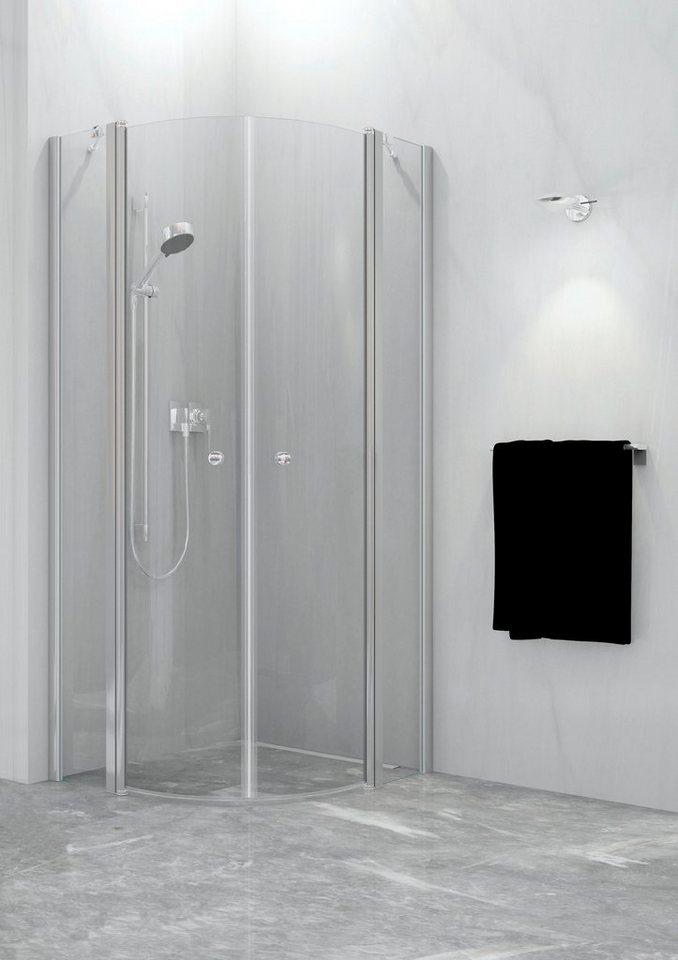 Runddusche »Relax Vario«, 90cm x 90cm in silberfarben