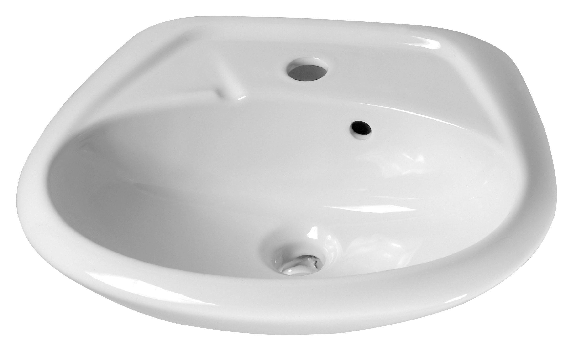 Cornat Keramik Waschtisch / Waschbecken »Alpha«, Breite 47 cm