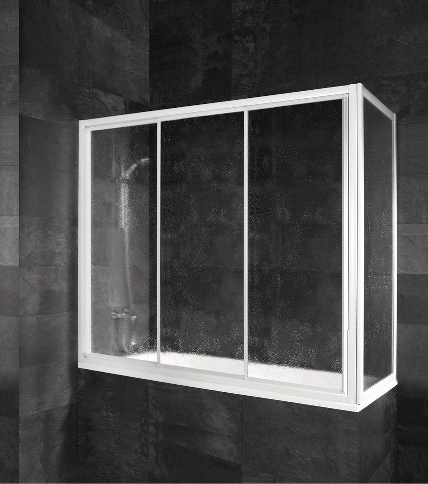 Badewannenaufsatz »Gleittür« in alunatur