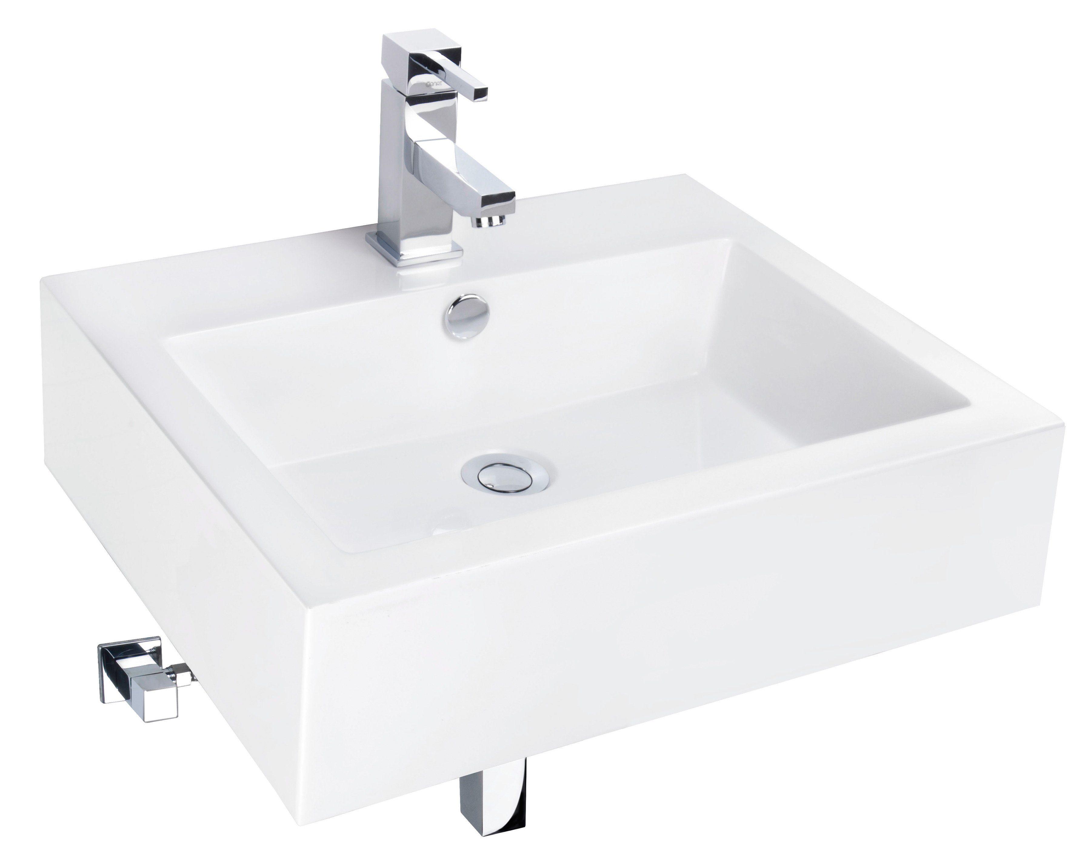 Cornat Mineralgussmarmor Waschtisch / Waschbecken »Fenno« Breite 55 cm