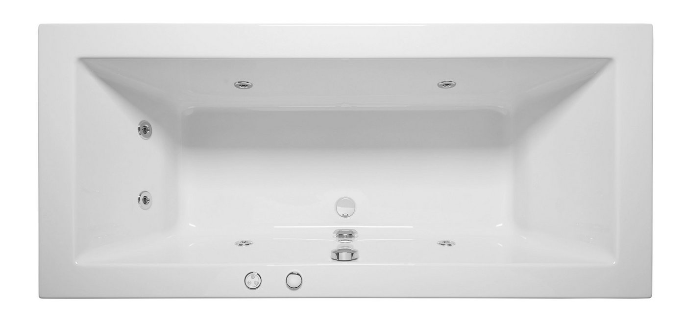 OTTOFOND Whirlpoolwanne »Cubic«, B/T/H in cm: 190/90/62,5; mit Whirlpool-System 1