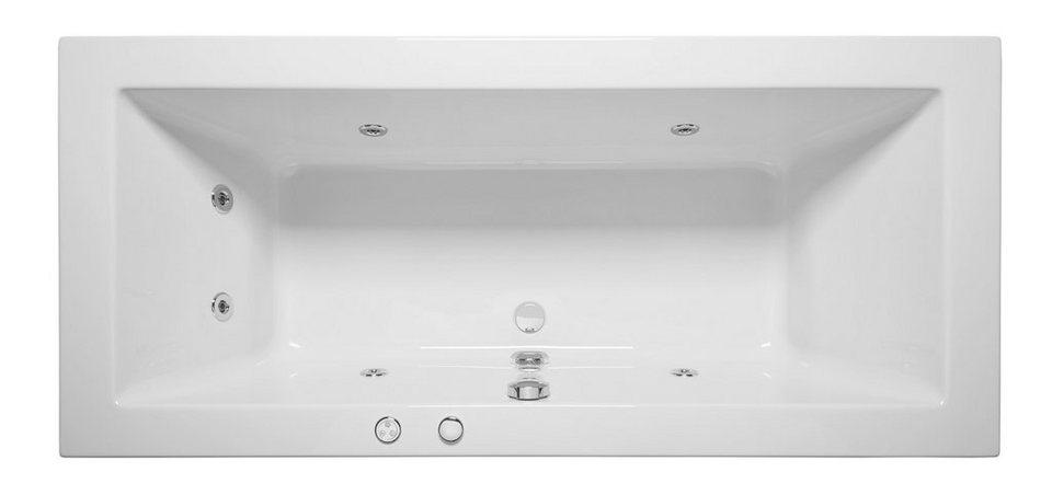 Komplett-Set: Whirlpoolwanne »Cubic«, 190 cm, Whirlpool-System 1