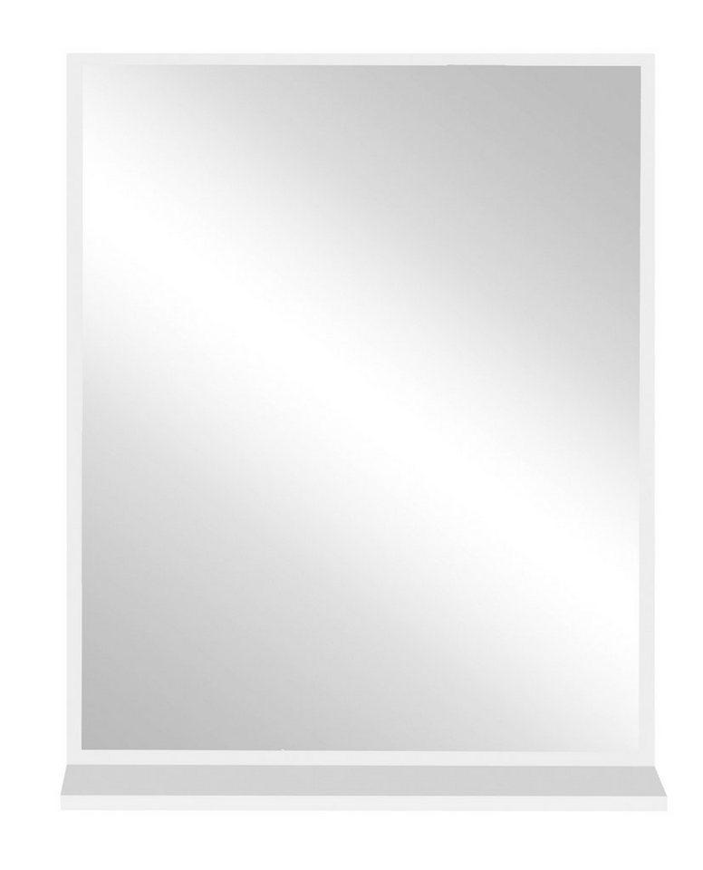 Spiegel / Badspiegel »Ohio« Breite 60 cm, mit Ablage in Weiß