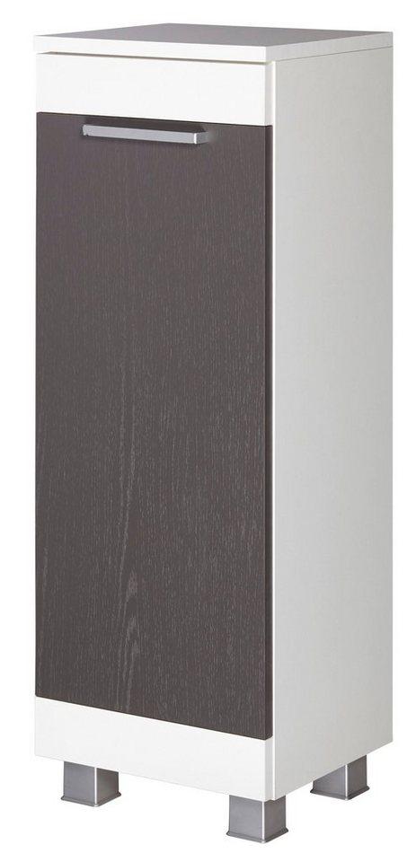 Unterschrank »Ohio« 30 cm in graphitfarben/weiß
