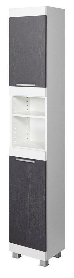 Seitenschrank »Ohio«, 30 cm in graphitfarben/weiß