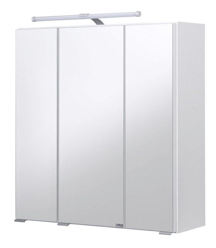 spiegelschrank jaca breite 60 cm mit led beleuchtung. Black Bedroom Furniture Sets. Home Design Ideas
