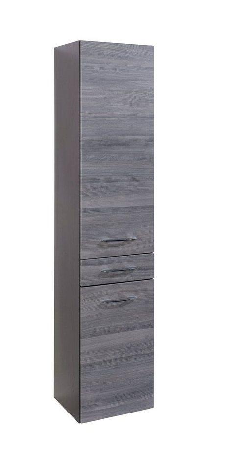 Hochschrank »Florida«, Breite 40 cm in graphitfarben/rauchsilber