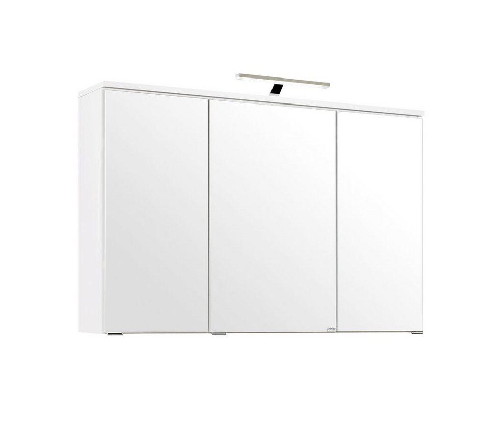 spiegelschrank prato breite 100 cm mit led beleuchtung online kaufen otto. Black Bedroom Furniture Sets. Home Design Ideas