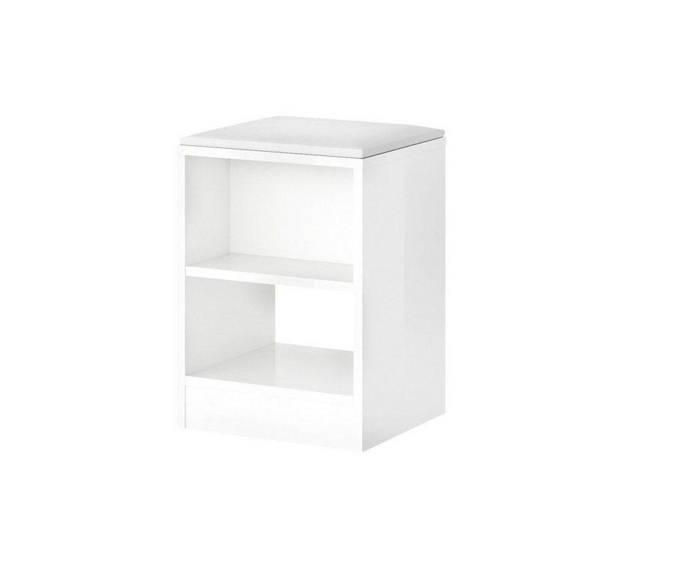 Hocker, Breite 35,2 cm in weiß