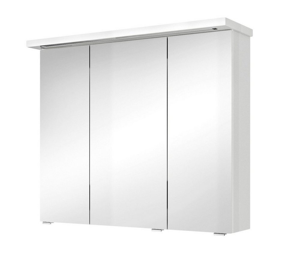 Spiegelschrank »Solitaire 7020«, Breite 85 cm in weiß
