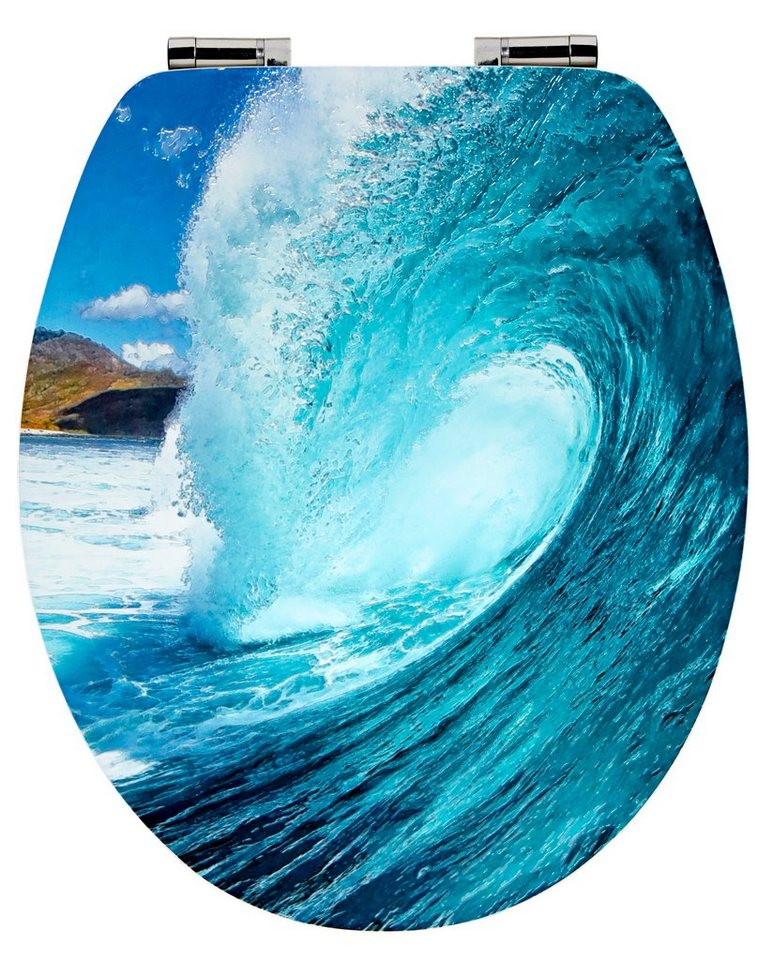 WC-Sitz »Wave«, Mit Absenkautomatik in bunt