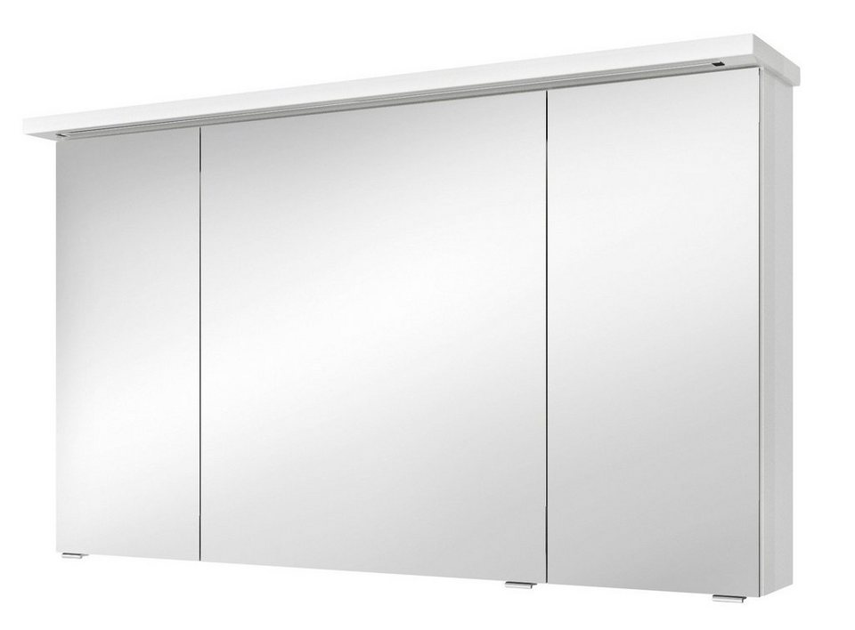 Spiegelschrank »Solitaire 7020«, Breite 120 cm in weiß
