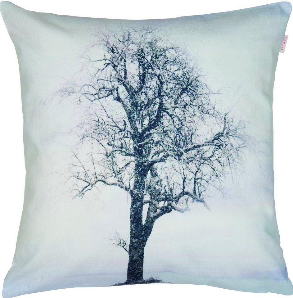 Kissenhülle, Esprit, »Wintertree« (1 Stück) in grey