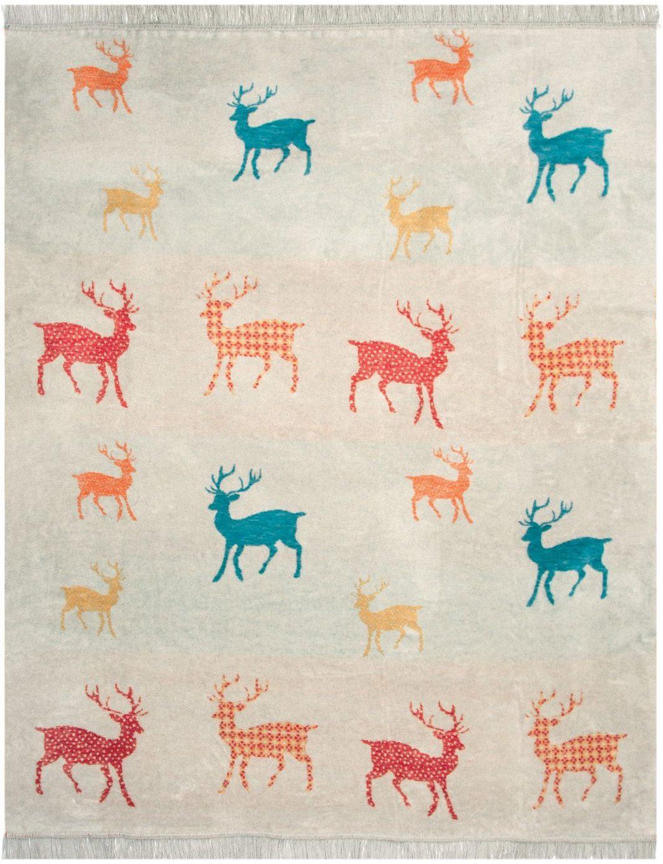 Wohndecke, Pad, »Bambi«, mit kleinen Hirschen