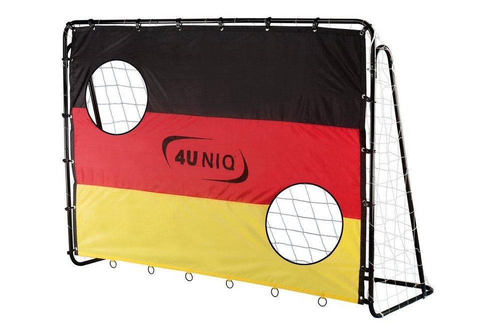 4Uniq Fußballtor mit Torwand, »Champion Germany« in schwarz