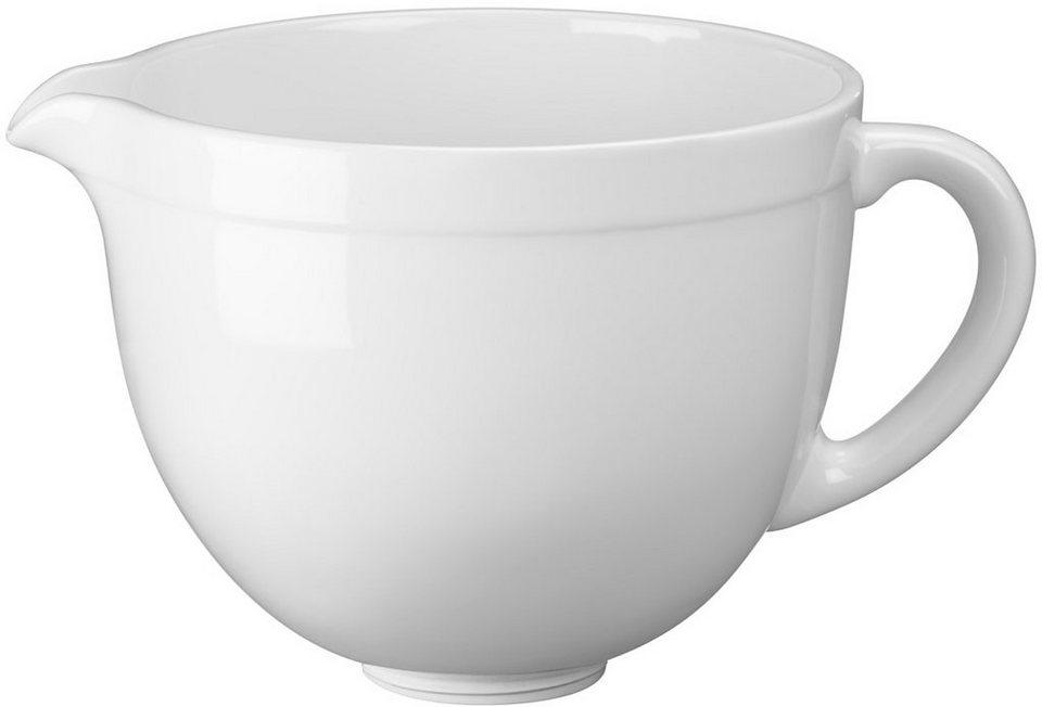 KitchenAid 4,8-L-Keramikschüssel 5KSMCB5LW, NUR für Artisan mit kippbarem Motorkopf in weiße Schokolade