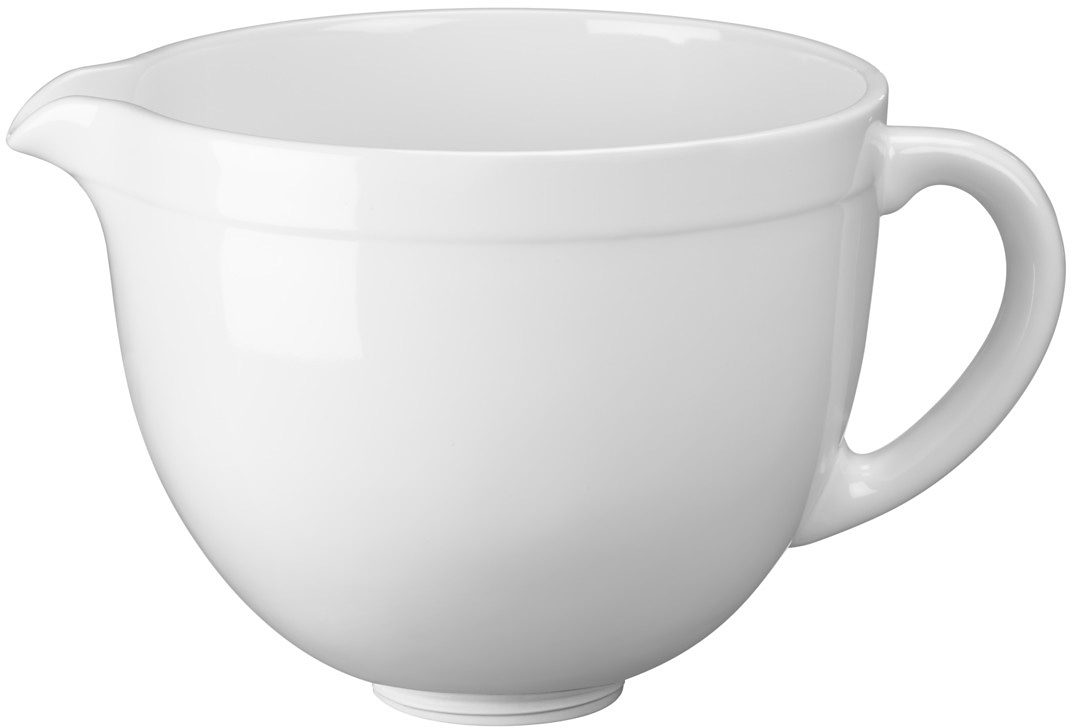 KitchenAid 4,8-L-Keramikschüssel 5KSMCB5LW, NUR für Artisan mit kippbarem Motorkopf