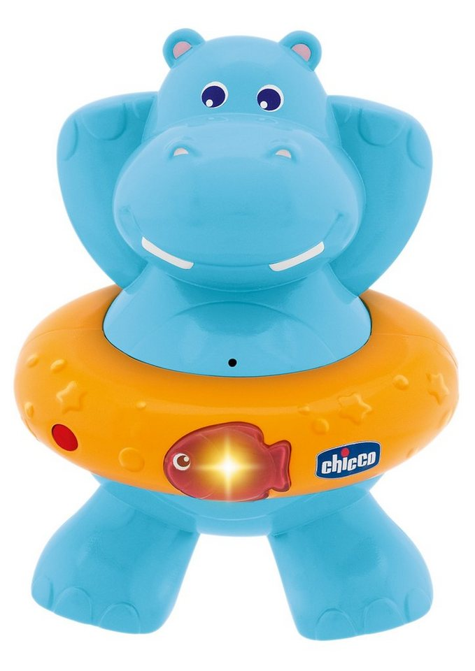 Chicco®, Badespielzeug »Baby Classic, Hippo Musik« in blau/orange