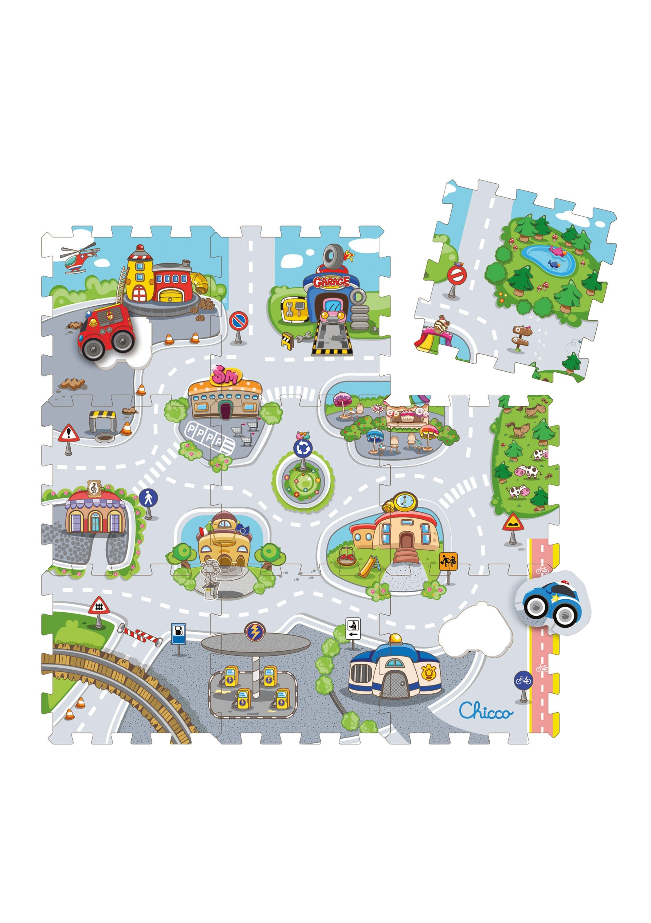 Chicco®, Puzzlematte »Mov'n Grow, City«