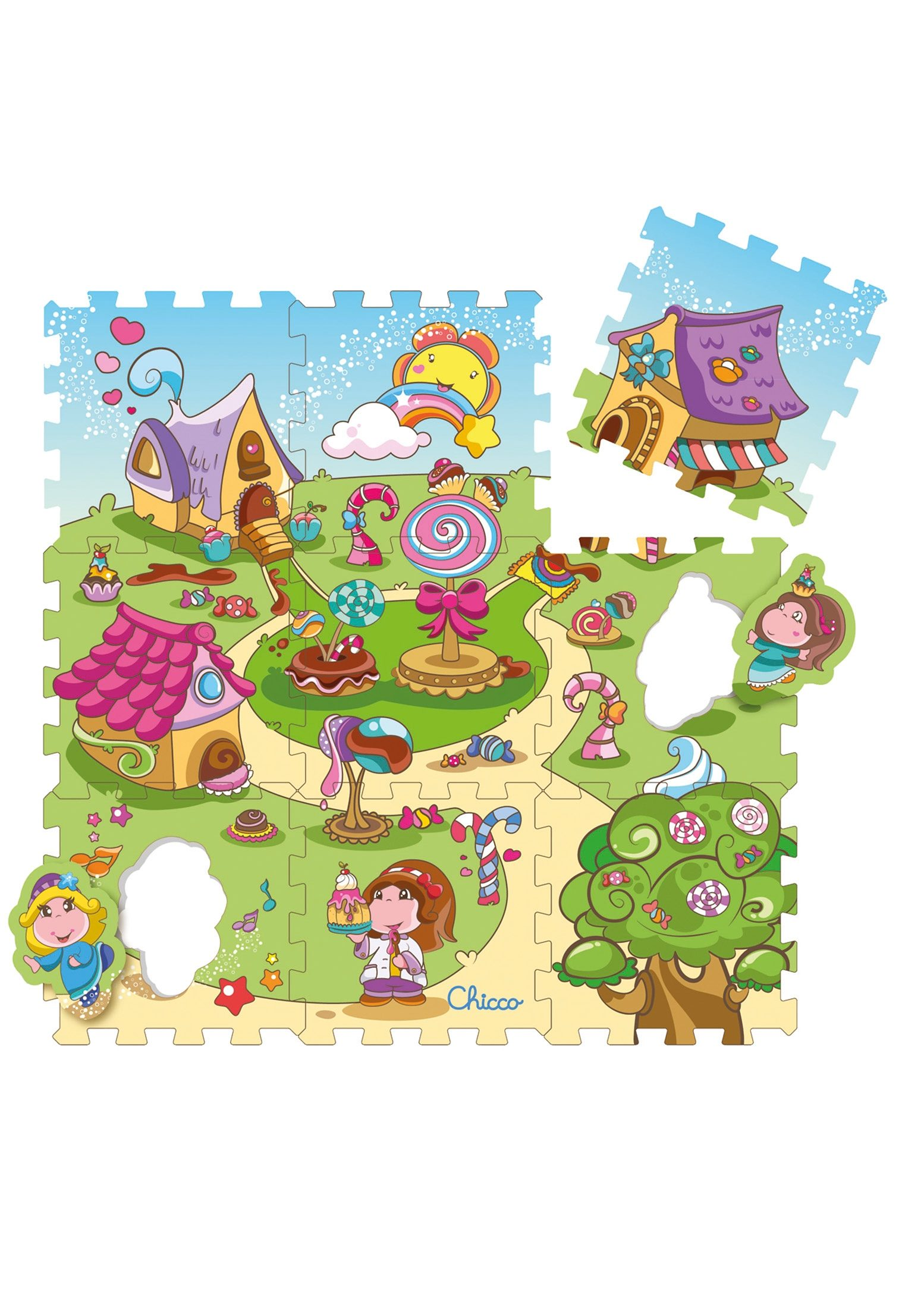 Chicco®, Puzzlematte »Mov'n Grow, Candy«