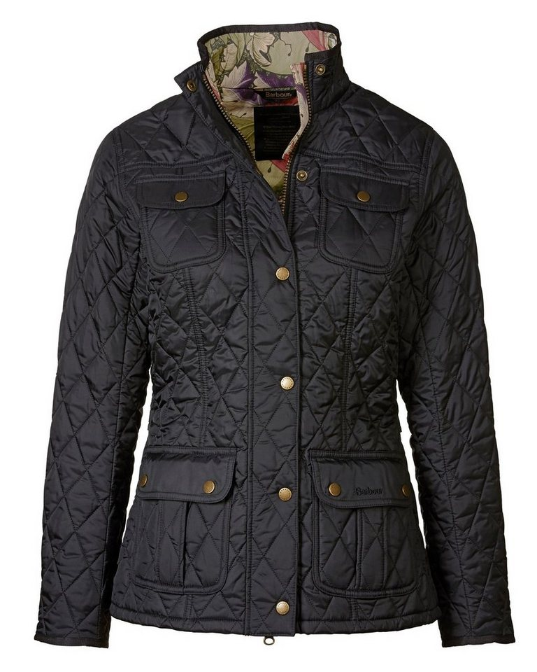 Barbour Steppjacke Ruskin in Schwarz