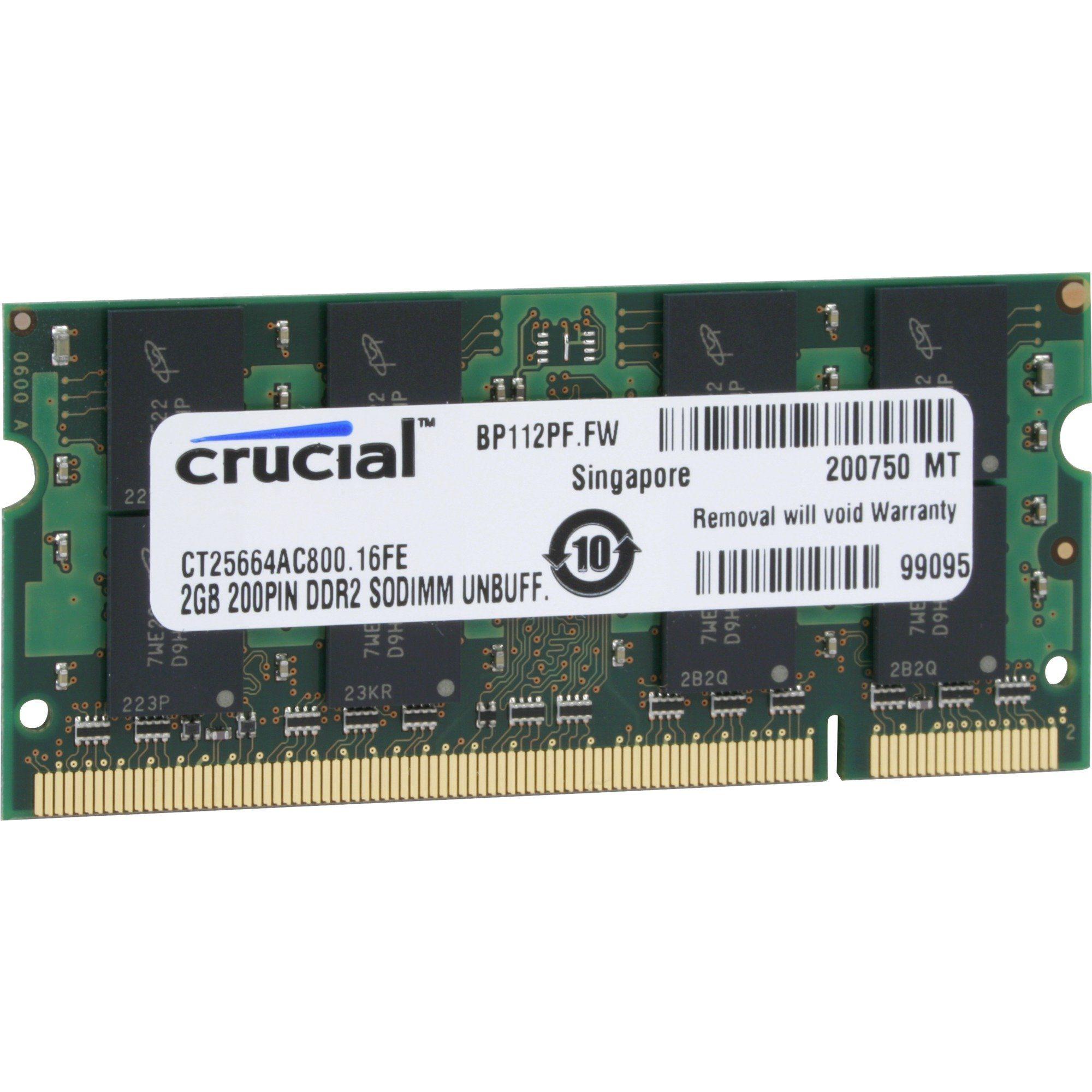 Crucial Arbeitsspeicher »SO-DIMM 2 GB DDR2-800«