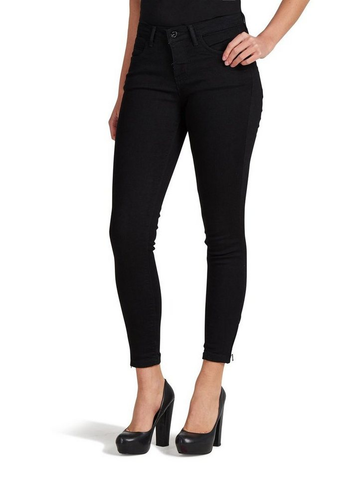 Only Kendell Reg Solid Skinny Fit Jeans in Black