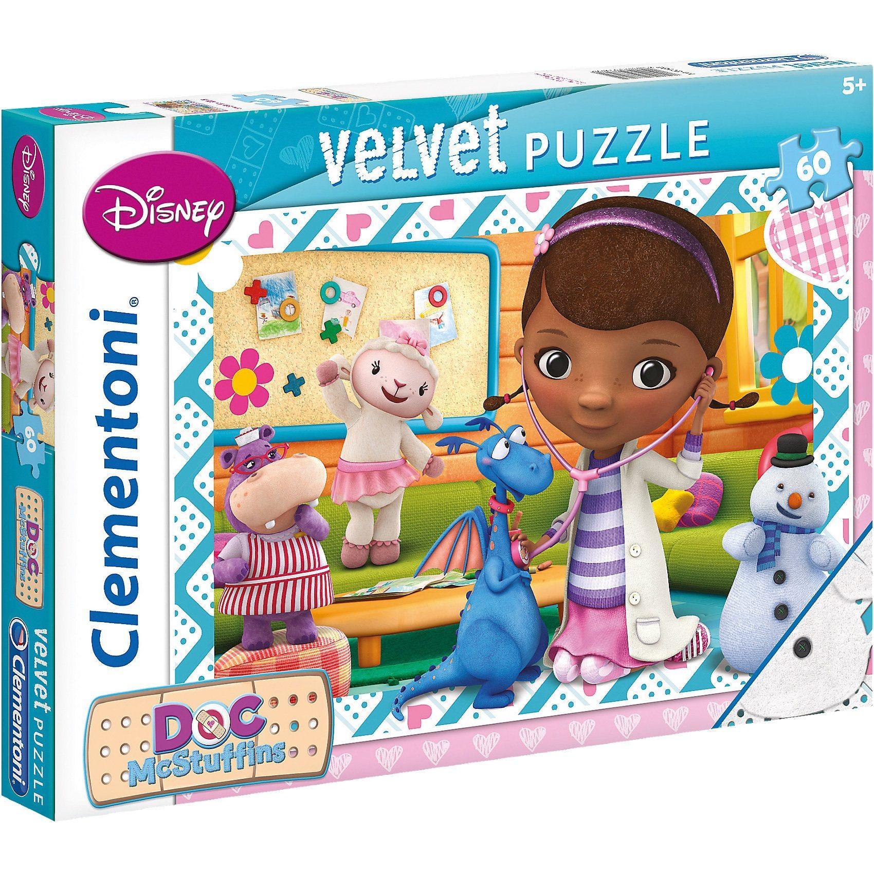 Clementoni Velvet Puzzle 60 Teile - Doc McStuffins
