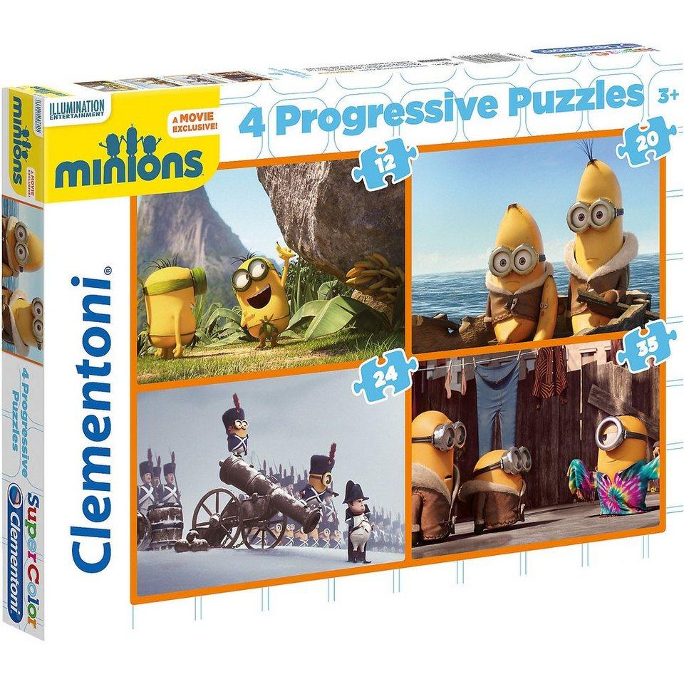 Clementoni 4in1 Puzzle Set - 12/20/24/35 Teile - Minions