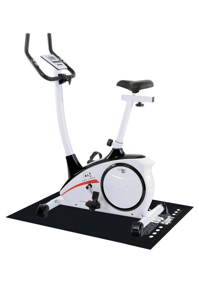 Christopeit Sport® Heimtrainer Ergometer inkl. Unterlegmatte, »AL 2« in weiß-schwarz-rot