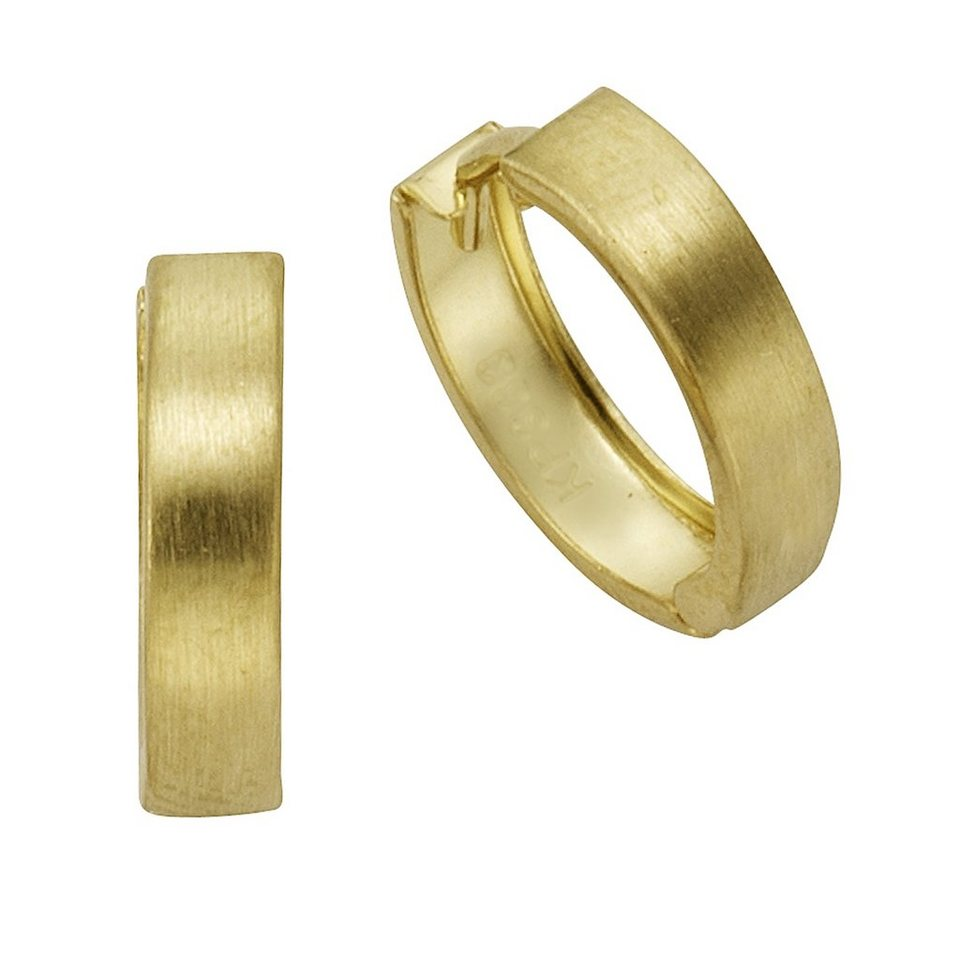 Fascination by Ellen K. Creolen »333/- Gelbgold glanz matt« in gelb
