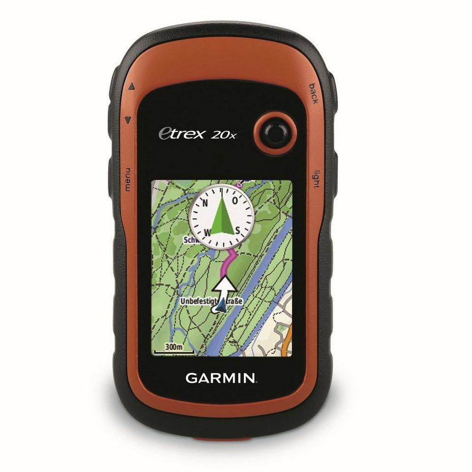 Garmin Outdoor-Navigationsgerät »eTrex 20x inkl. TopoActive-Karte (Westeuropa)« in Schwarz-Rot