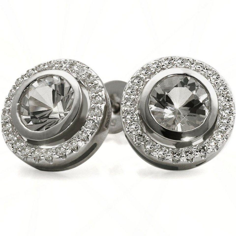 goldmaid paar ohrstecker weissgold 585 topas diamanten online kaufen otto. Black Bedroom Furniture Sets. Home Design Ideas