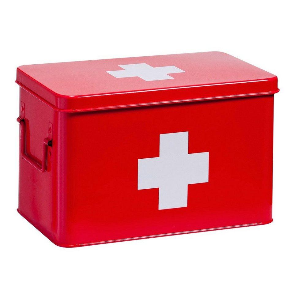 Aufbewahrungsbox / Medizinbox in rot