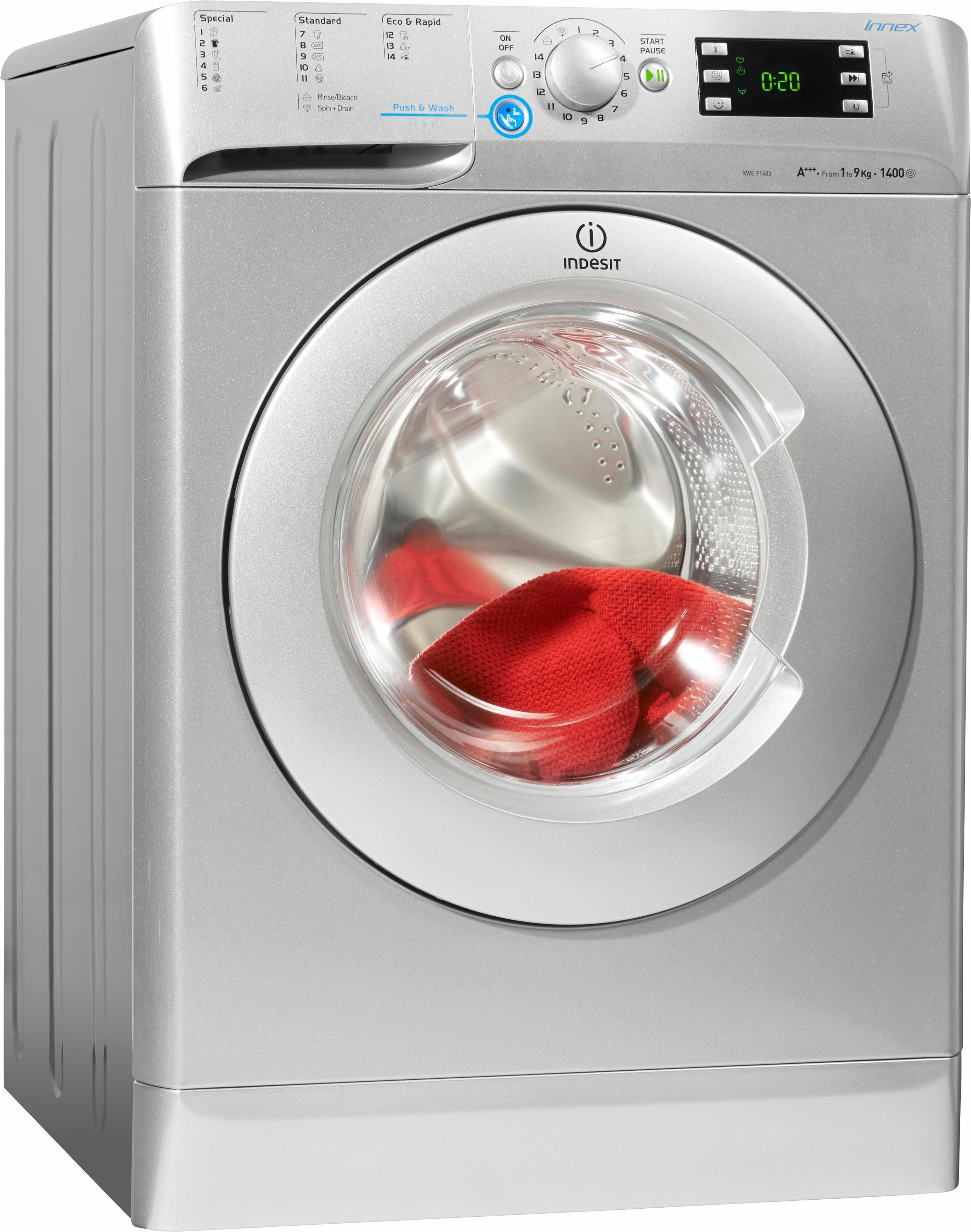 Indesit Waschmaschine XWE 91483X S EU, A+++, 9 kg, 1400 U/Min