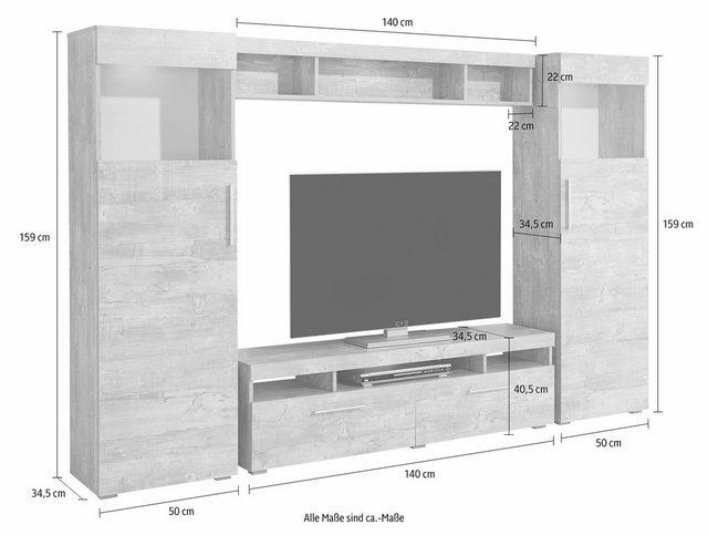 Wohnwände - Wilmes Wohnwand, (Set, 4 St)  - Onlineshop OTTO
