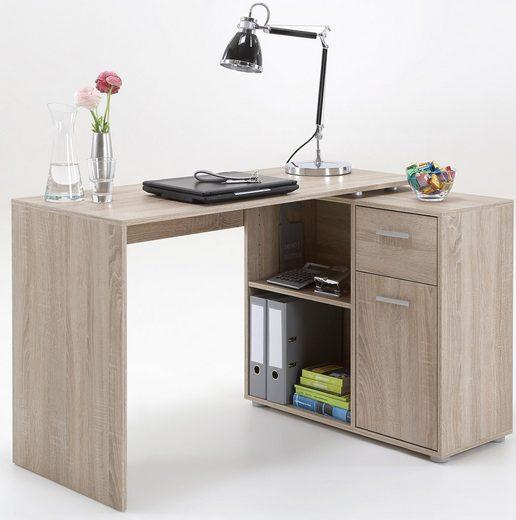 FMD Eck-Schreibtisch »ALBRECHT«, im Raum frei stellbar